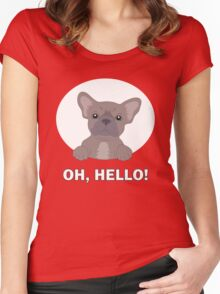 Hello frenchie Women's Fitted Scoop T-Shirt