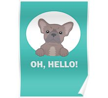 Hello frenchie Poster