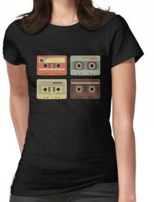 Cassette Tapes Music Mixtape Vintage Retro 80s Tech Womens Fitted T-Shirt