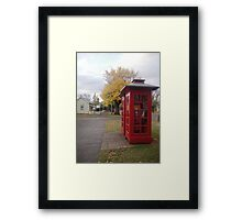 Telephone Boxes at Ross Framed Print