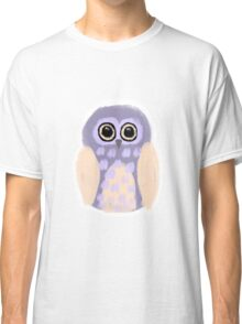 Purple Owl Digital Illustration Classic T-Shirt