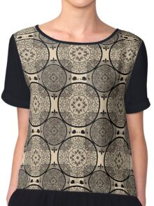 Beige abstract seamless lace pattern texture background Chiffon Top