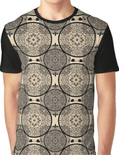 Beige abstract seamless lace pattern texture background Graphic T-Shirt