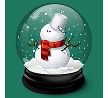 Christmas Snowman Photographic Print