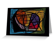 Scratched Colors Greeting Card