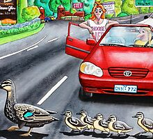 Ducks Crossing by Laural Retz Studio