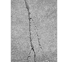 BROKEN SIDEWALK (Damaged) Photographic Print