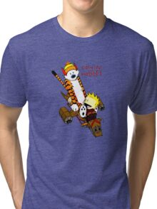 Funny T-shirt for kid, Calvin&Hobbes Tri-blend T-Shirt