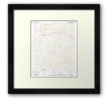 USGS TOPO Map California CA Cameron Corners 288837 1959 24000 geo Framed Print