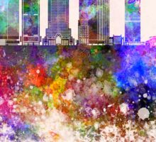 Montreal V2 skyline in watercolor background Sticker