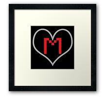 Markiplier Heart with Logo Framed Print