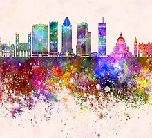 Montreal V2 skyline in watercolor background by paulrommer
