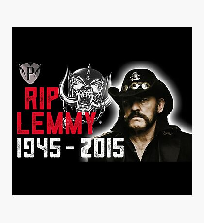 Rip Lemmy Photographic Print