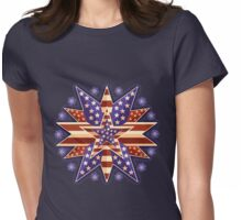Christmas Star Womens Fitted T-Shirt