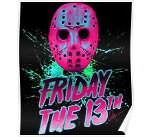FRIDAY THE 13TH Neon V Poster