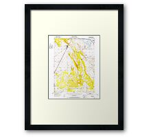 USGS TOPO Map California CA Dorris 297323 1950 62500 geo Framed Print