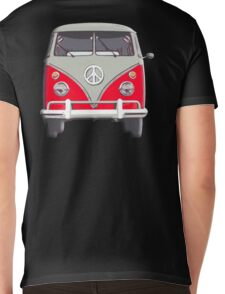 Volkswagen, Van, RED, Camper, Split screen, 1966 Volkswagen, Kombi (North America) Mens V-Neck T-Shirt