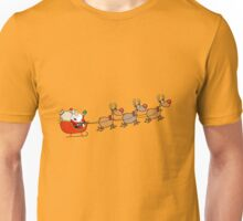 Santa Claus with Deers Unisex T-Shirt