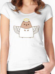 Cute Christmas Angel Pupsheen Women's Fitted Scoop T-Shirt
