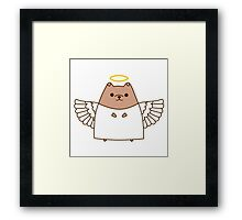 Cute Christmas Angel Pupsheen Framed Print