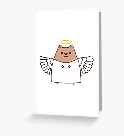 Cute Christmas Angel Pupsheen Greeting Card