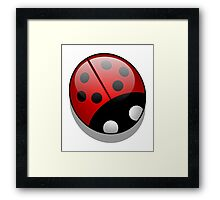 LADYBUG, Lady Bird, Cartoon, LADYBIRD, Lady Bug,  Framed Print