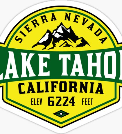 LAKE TAHOE CALIFORNIA SIERRA NEVADA SKIING MOUNTAINS BOATING HIKING CLIMBING SKI 4 Sticker