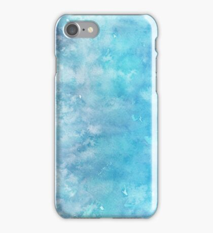 Winter snow frost watercolour wall art work home decor and fashion  iPhone Case/Skin