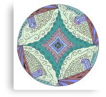 Mandala: Four Pillars Canvas Print
