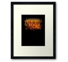 SciFi on an Orange Planet Framed Print