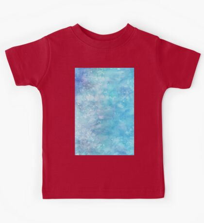 Winter snow frost watercolour wall art work home decor and fashion  Kids Tee