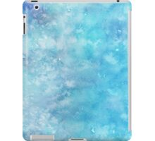 Winter snow frost watercolour wall art work home decor and fashion  iPad Case/Skin