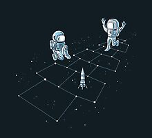 Hopscotch Astronauts by qetza
