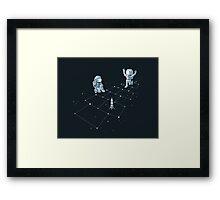 Hopscotch Astronauts Framed Print