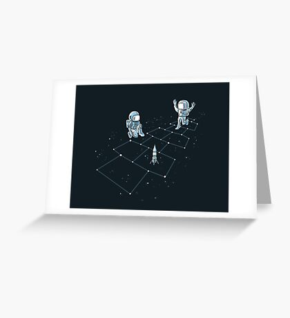 Hopscotch Astronauts Greeting Card