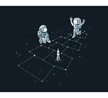 Hopscotch Astronauts Photographic Print