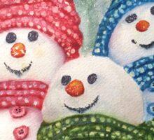 WINTER SNOW FAMILY Sticker