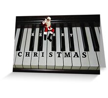 ❀◕‿◕❀ SANTAS RIGHT ON KEY HO HO HO MERRY CHRISTMAS ❀◕‿◕❀ Greeting Card