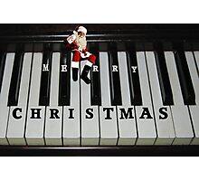 ❀◕‿◕❀ SANTAS RIGHT ON KEY HO HO HO MERRY CHRISTMAS ❀◕‿◕❀ Photographic Print