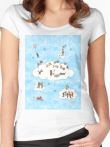 All Dogs Go To Heaven Women's Fitted Scoop T-Shirt