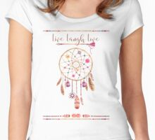 Dreamcatcher boho live laugh love Women's Fitted Scoop T-Shirt
