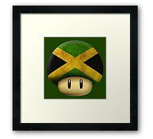Jamaica Mario's mushroom Framed Print