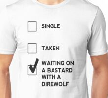 Game of Thrones - With A Direwolf Unisex T-Shirt