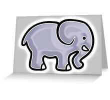Elephant, Cartoon, Drawing Greeting Card