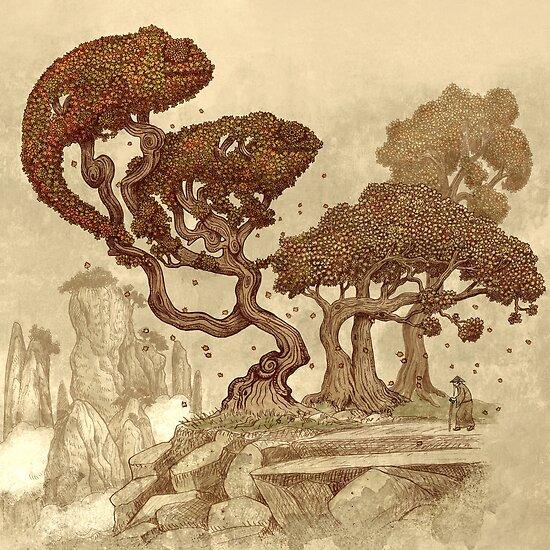 Autumn Chameleons  by Terry  Fan