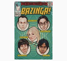 BAZINGA! Comic book Cover Poster Kids Clothes