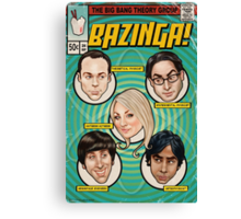 BAZINGA! Comic book Cover Poster Canvas Print