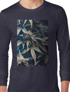 Weed indica sativa cannabis design floral hemp marijuana Long Sleeve T-Shirt