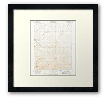 USGS TOPO Map California CA Birds Landing 288444 1953 24000 geo Framed Print