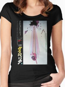 Suspiria Japan Poster Women's Fitted Scoop T-Shirt